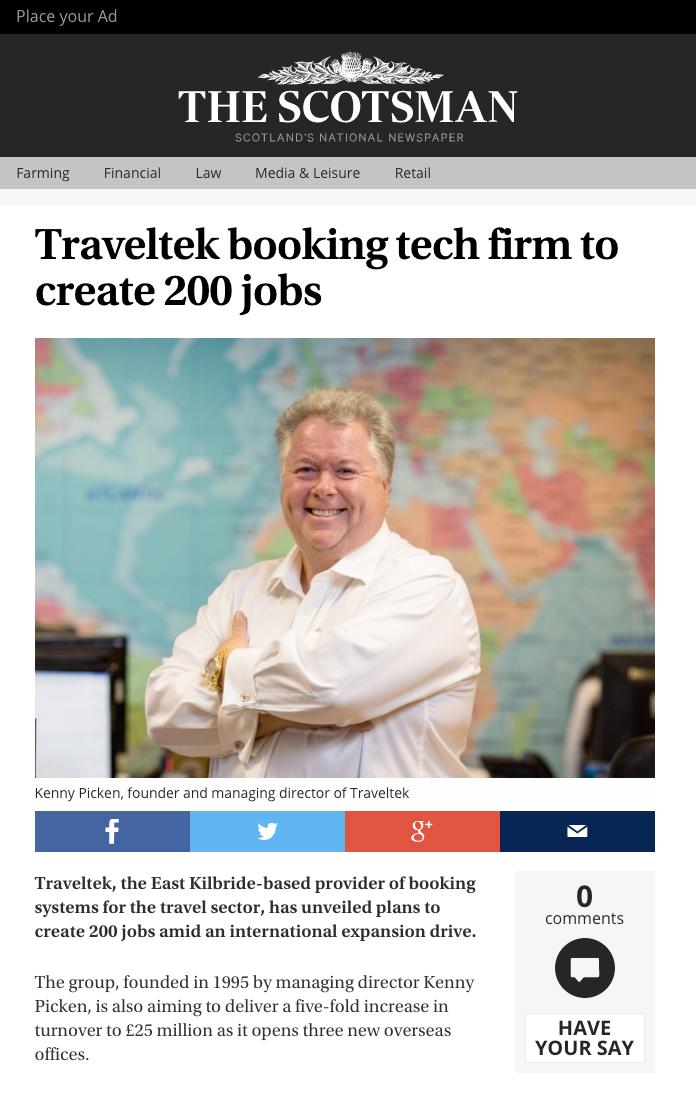 Kenny Picken, MD of TravelTek