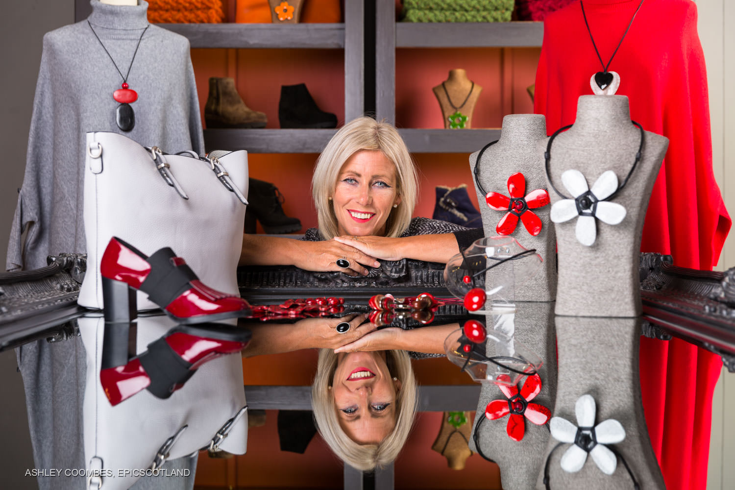 Photo of Cheryl in her shop to boost small business marketing