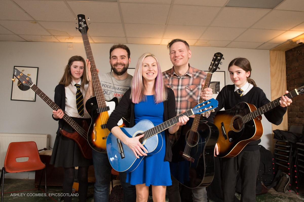 Zero Waste Scotland musical instrument library
