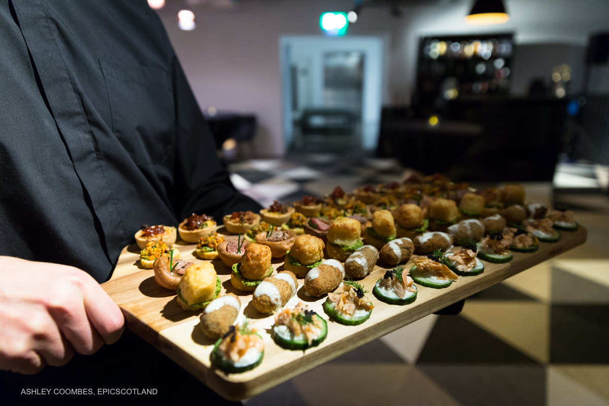 Clydeside Distillery event nibbles