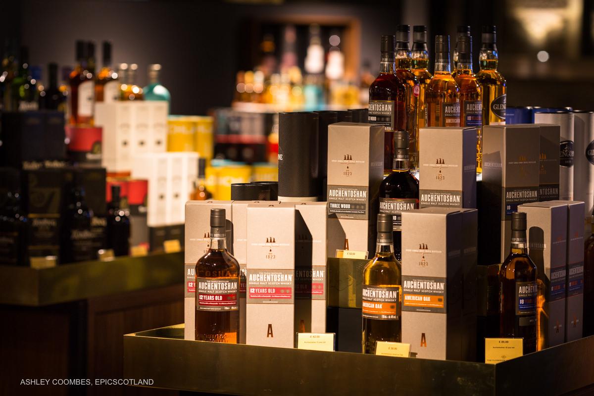 Clydeside Distillery whisky shop