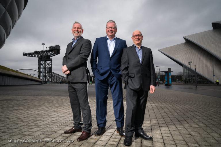 Corporate Group Portrait for Media Announcement