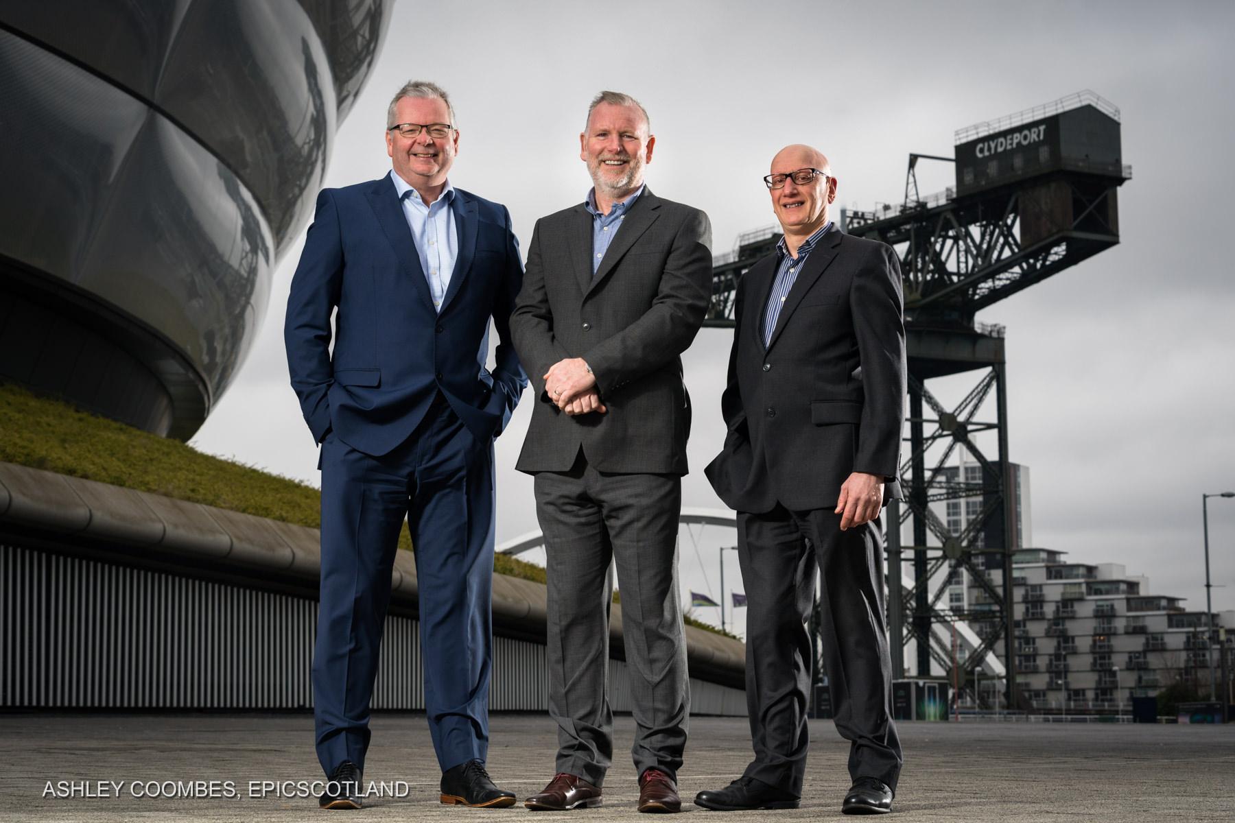Corporate Group Portrait at Finneston Crane