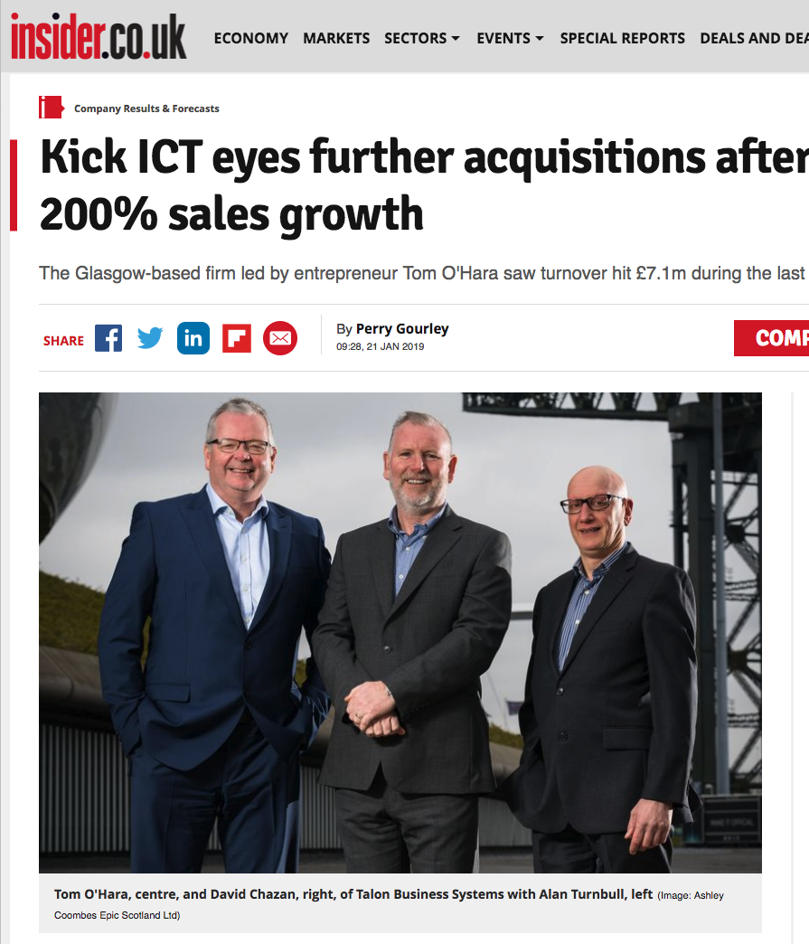 Kick ICT Group announcement Insider