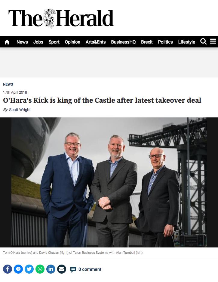 Kick ICT Group announcement Herald