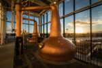 copper stills at sunset