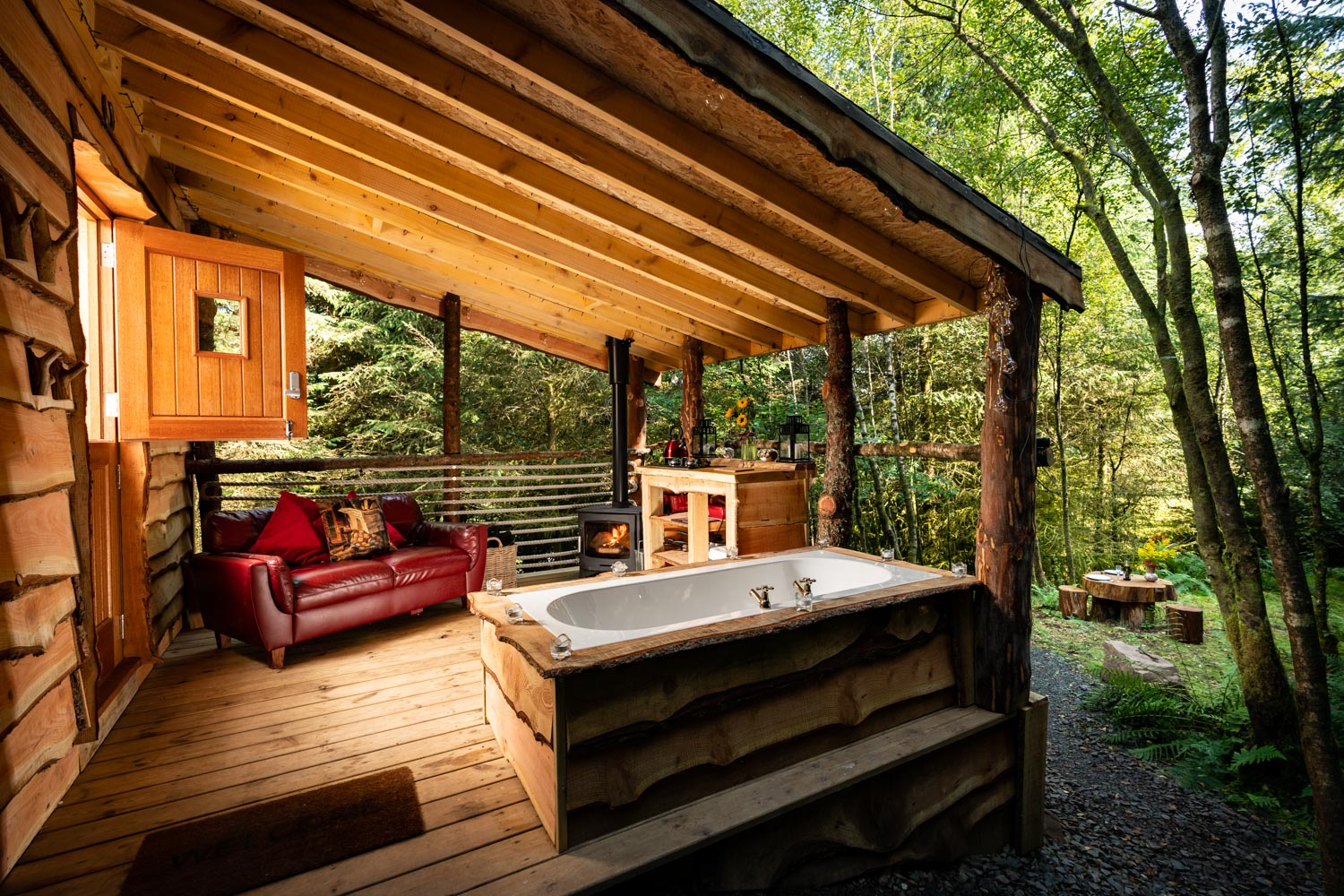 deck in the forest