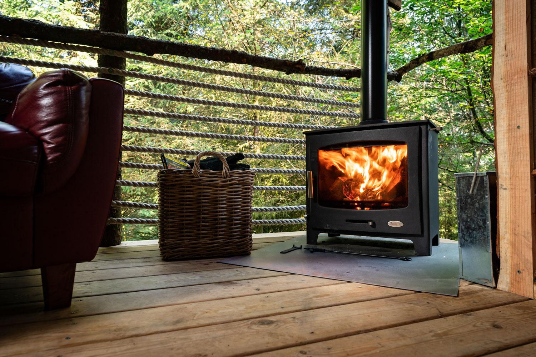 blazing stove