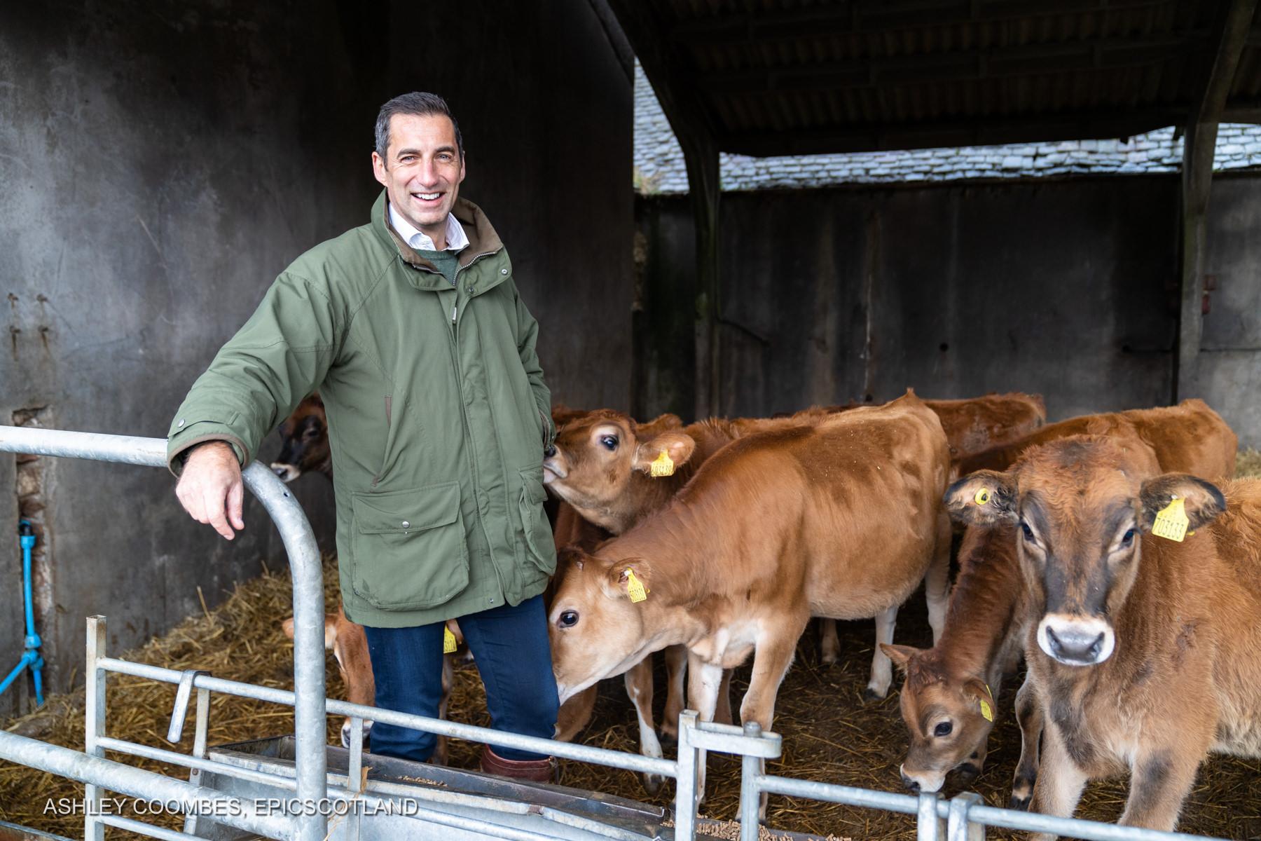 Business Portraits Graham's Dairy Farm Epic Scotland Photography