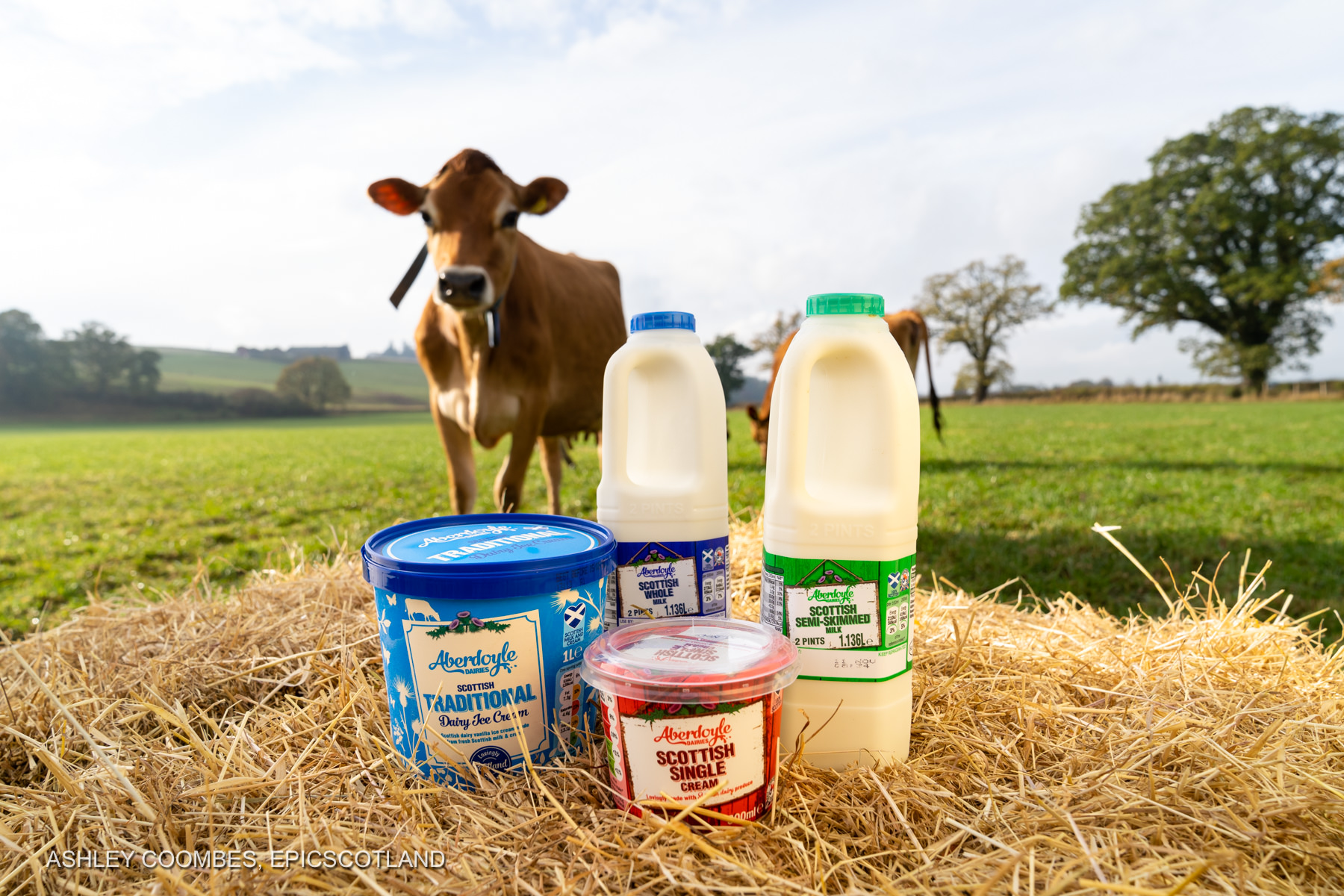 Graham's Family Dairy outdoor product shot Epic Scotland Photography