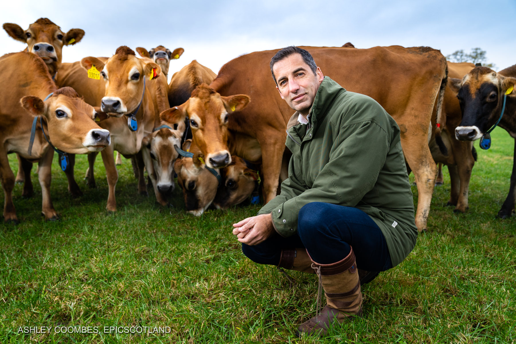 Business Portraits Graham's Family Dairy Epic Scotland Photography