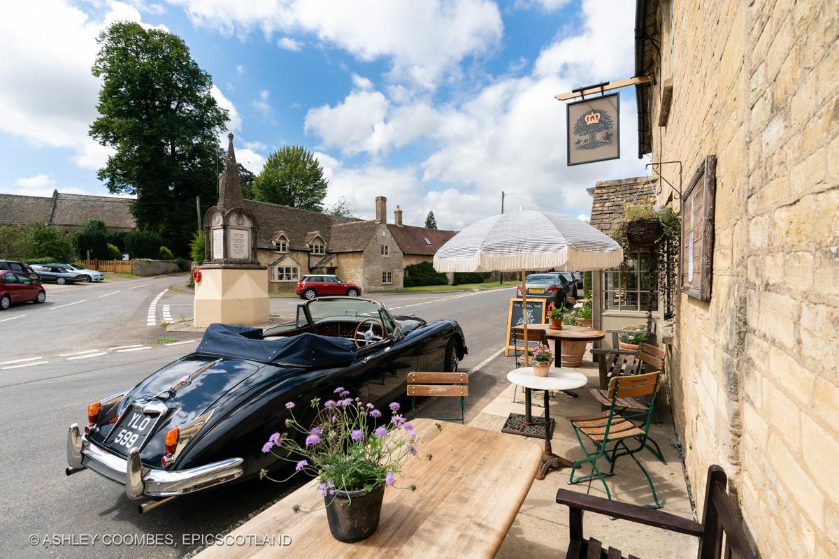 Vintage Jaguar at Cotswold pub